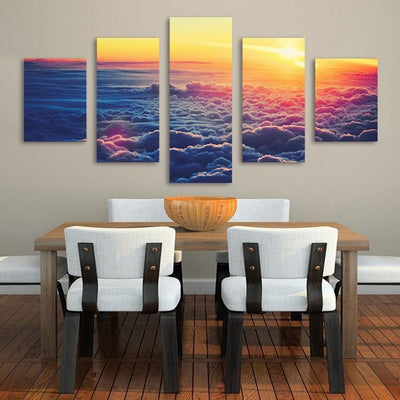xu zhenchun Canvas Medium / Unframed Clouds Painting - 5 Piece Canvas