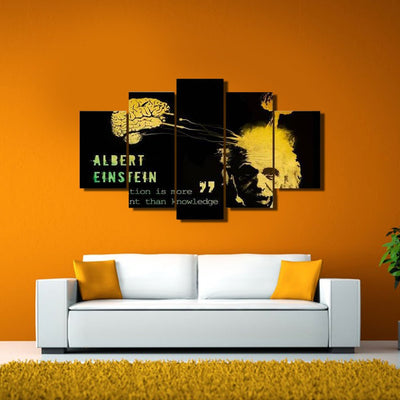 xu zhenchun Canvas Unframed / Medium Albert Einstein - 5 Piece Canvas Painting