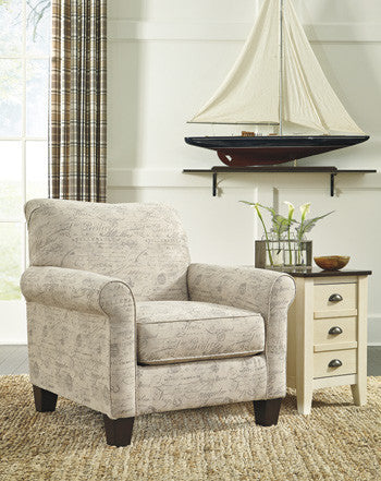Baveria Accent Chair- Gray