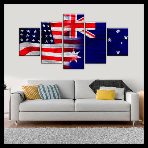 HD PRINTED LIMITED EDITION AMERICAN - AUSTRALIAN (AUSTRALIA) CANVAS