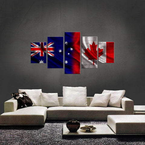 HD PRINTED LIMITED EDITION 5 PIECE AUSTRALIAN CANADIAN (AUSTRALIA) CANVAS