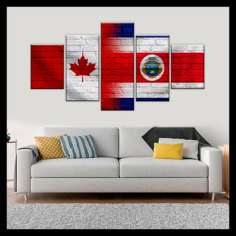 HD PRINTED LIMITED EDITION CANADIAN - COSTA RICAN (COSTA RICA) CANVAS