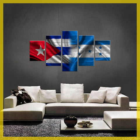 HD PRINTED LIMITED EDITION 5 PIECE  CUBAN (CUBA) HONDURAS CANVAS