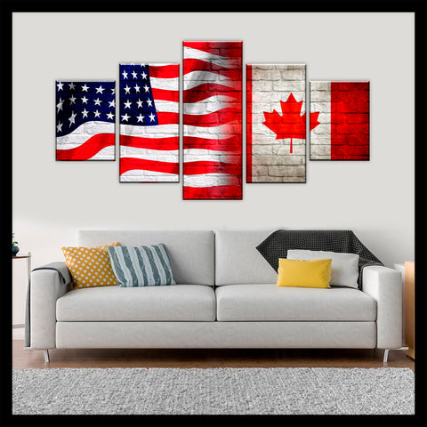 HD PRINTED LIMITED EDITION AMERICAN - CANADIAN (CANADA) CANVAS