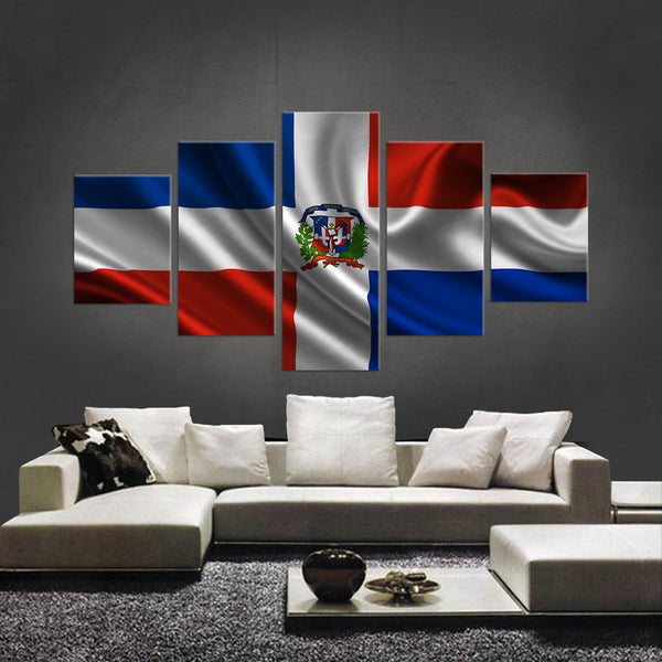 HD PRINTED LIMITED EDITION 5 PIECE DOMINICAN REPUBLIC CANVAS