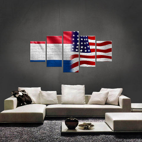 HD PRINTED LIMITED EDITION NEW DUTCH (NETHERLANDS) AMERICAN CANVAS