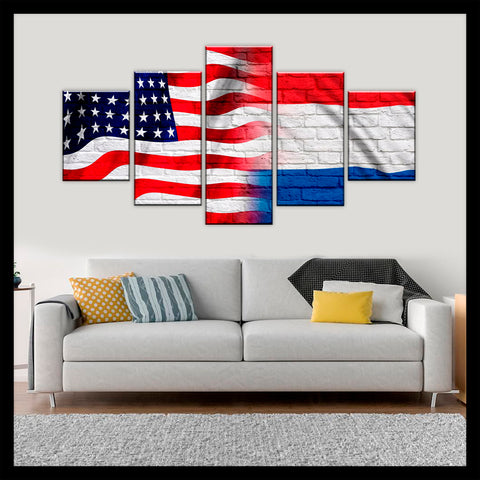 HD PRINTED LIMITED EDITION AMERICAN - DUTCH (NETHERLANDS) CANVAS