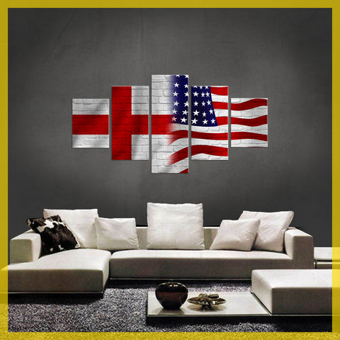 HD PRINTED LIMITED EDITION 5 PIECE St George  AMERICAN CANVAS
