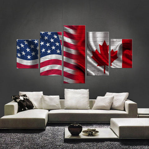 HD PRINTED LIMITED EDITION AMERICAN-CANADIAN CANVAS - NEW DESIGN!!