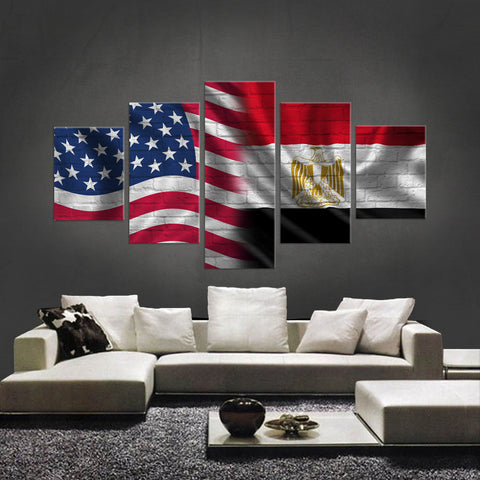 HD PRINTED LIMITED EDITION 5 PIECE AMERICAN - EGYPTIAN (EGYPT) CANVAS