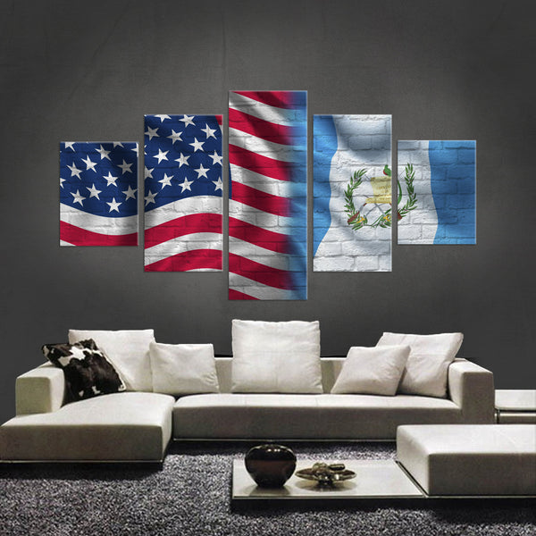 HD PRINTED LIMITED EDITION AMERICAN - ECUADOREAN (ECUADOR) FLAG CANVAS