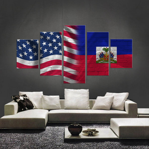 HD PRINTED LIMITED EDITION AMERICAN-HAITIAN CANVAS