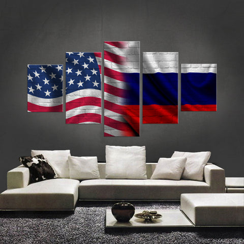 HD PRINTED LIMITED EDITION 5 PIECE AMERICAN - RUSSIAN (RUSSIA) CANVAS
