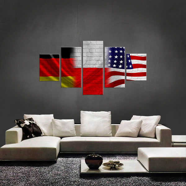 German, Poland and USA Canvas