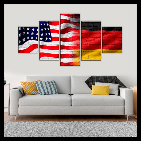 HD PRINTED LIMITED EDITION AMERICAN - GERMAN (GERMANY) CANVAS