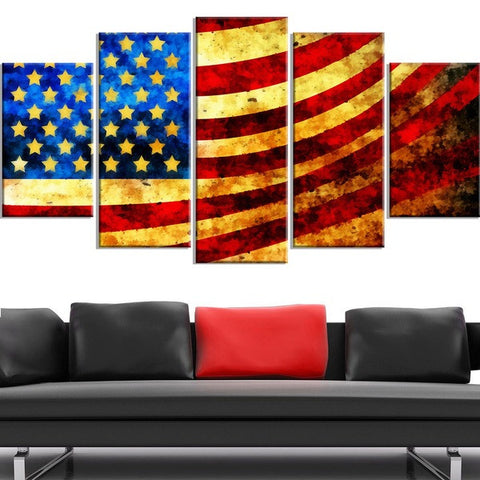HD PRINTED LIMITED EDITION AMERICAN FLAG CANVAS