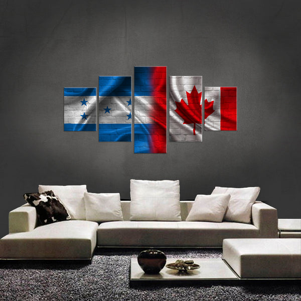 HD PRINTED LIMITED EDITION 5 PIECE HONDURAN CANADIAN CANVAS