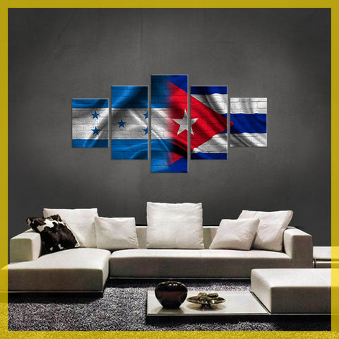 HD PRINTED LIMITED EDITION 5 PIECE HONDURAS CUBA CANVAS
