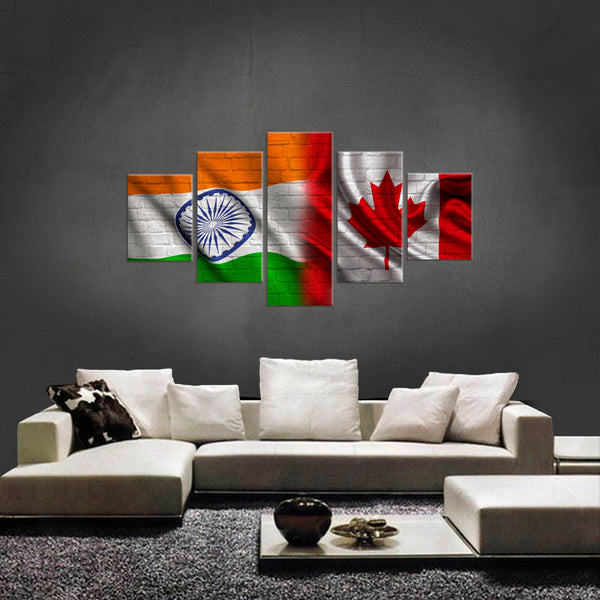 HD PRINTED LIMITED EDITION 5 PIECE CANADIAN INDIAN (INDIA)  CANVAS