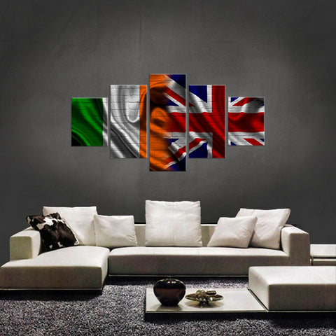 HD PRINTED LIMITED EDITION 5 PIECE IRISH-BRITISH (IRELAND) CANVAS