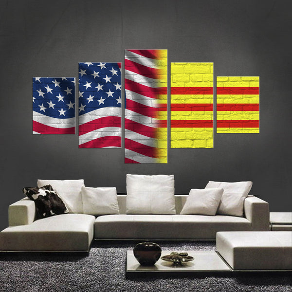 HD PRINTED LIMITED EDITION AMERICAN-VIETNAMESE CANVAS