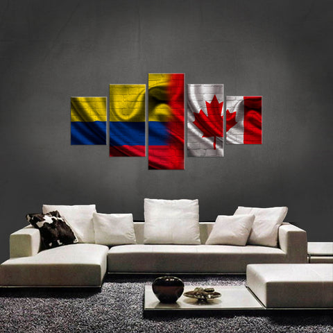 HD PRINTED LIMITED EDITION 5 PIECE COLOMBIAN CANADIAN (COLOMBIA) CANVAS