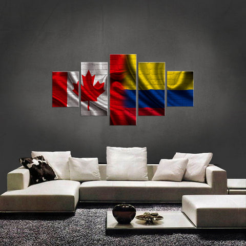 HD PRINTED LIMITED EDITION 5 PIECE CANADIAN COLOMBIAN (COLOMBIA) CANVAS