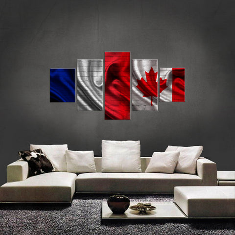 HD PRINTED LIMITED EDITION 5 PIECE FRENCH CANADIAN CANVAS