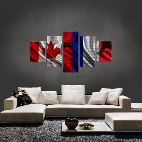 HD PRINTED LIMITED EDITION 5 PIECE NEW CANADIAN FRENCH  CANVAS