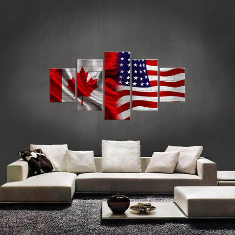 HD PRINTED LIMITED EDITION NEW CANADIAN 5 Piece Wall Canvas