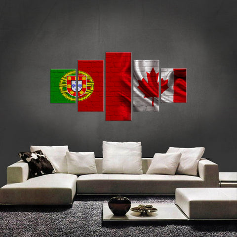 HD PRINTED LIMITED EDITION 5 PIECE NEW PORTUGUESE CANADIAN CANVAS