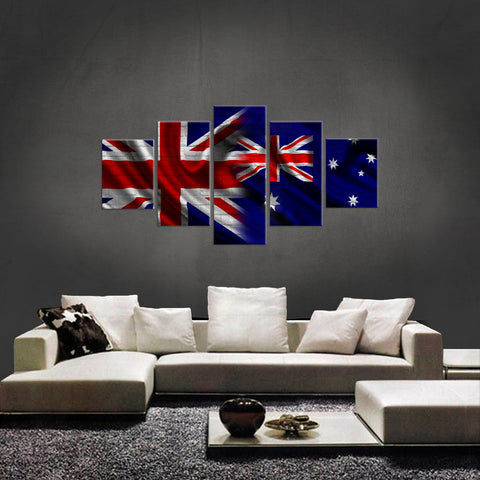 HD PRINTED LIMITED EDITION 5 PIECE BRITISH AUSTRALIAN (AUSTRALIA) CANVAS