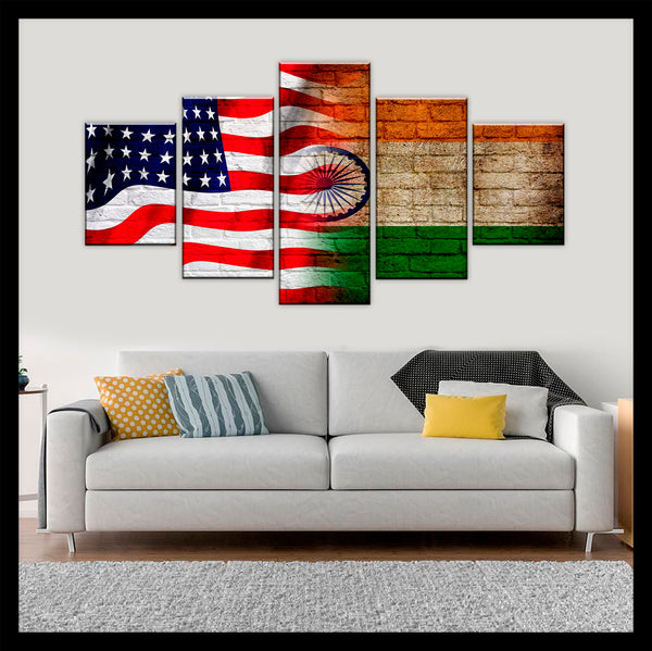 HD PRINTED LIMITED EDITION 5 PIECE INDIAN NEW CANVAS
