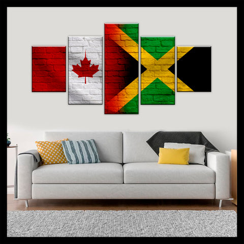 HD PRINTED LIMITED EDITION CANADIAN - JAMAICAN (JAMAICA) CANVAS