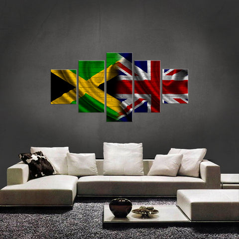 HD PRINTED LIMITED EDITION JAMAICAN BRITISH (JAMAICA) FLAG CANVAS