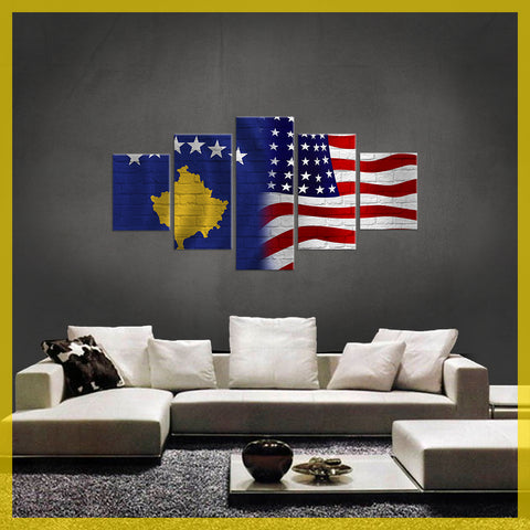 LIMITED EDITION KOSOVO America CANVAS