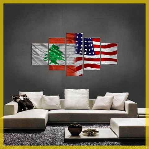 HD PRINTED LIMITED EDITION  LEBANESE (LEBANON) AMERICAN CANVAS