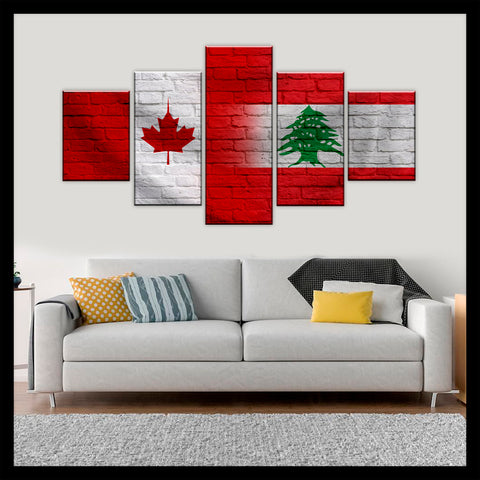 HD PRINTED LIMITED EDITION CANADIAN - LEBANESE (LEBANON) CANVAS