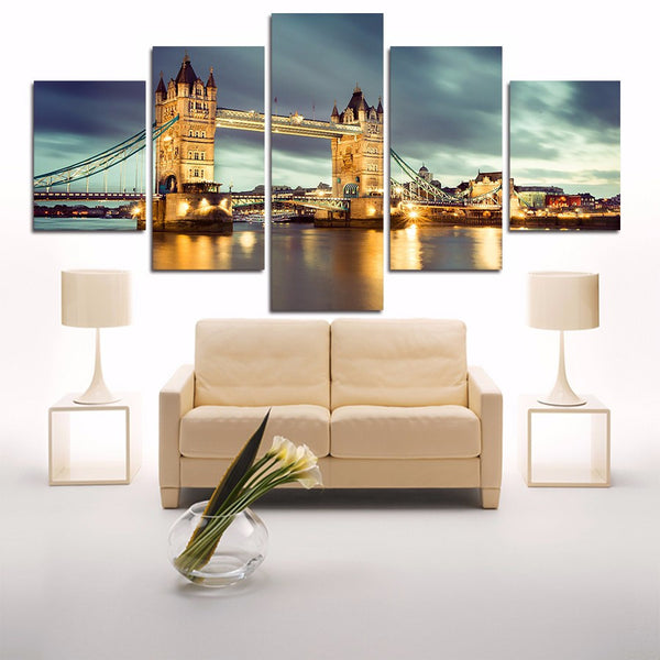 HD PRINTED LIMITED EDITION LONDON BRIDGE custom CANVAS