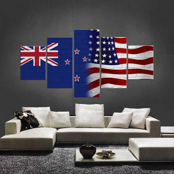 HD PRINTED LIMITED EDITION 5 PIECE KIWIS AMERICAN  CANVAS