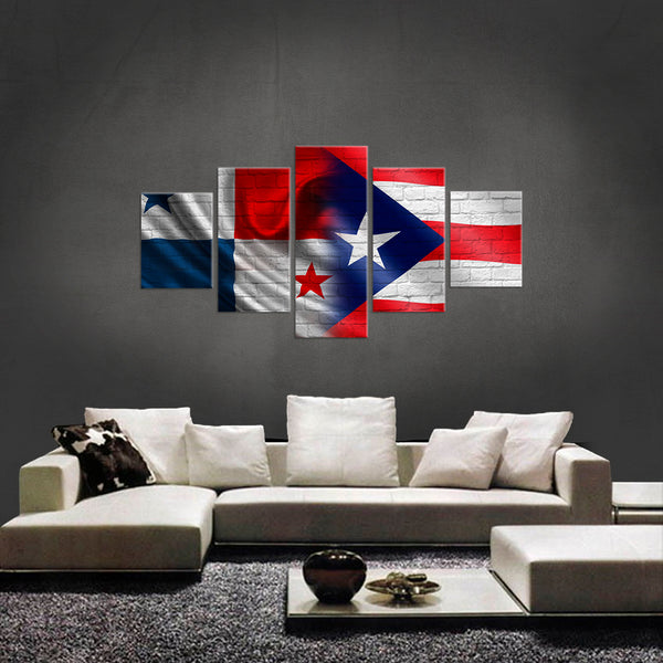 HD PRINTED LIMITED EDITION 5 PIECE Panama and puerto Rican CANVAS