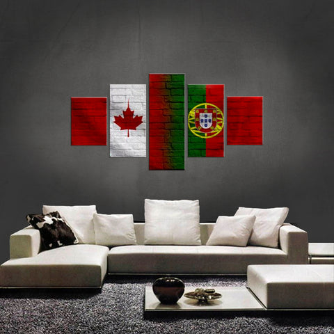 HD PRINTED LIMITED EDITION 5 PIECE CANADIAN PORTUGUESE (PORTUGAL) CANVAS