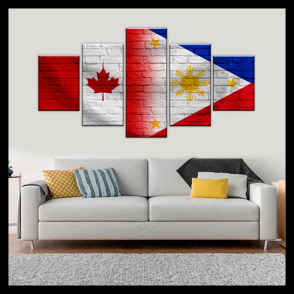 HD PRINTED LIMITED EDITION CANADIAN - PUERTO RICAN (PUERTO RICO) CANVAS
