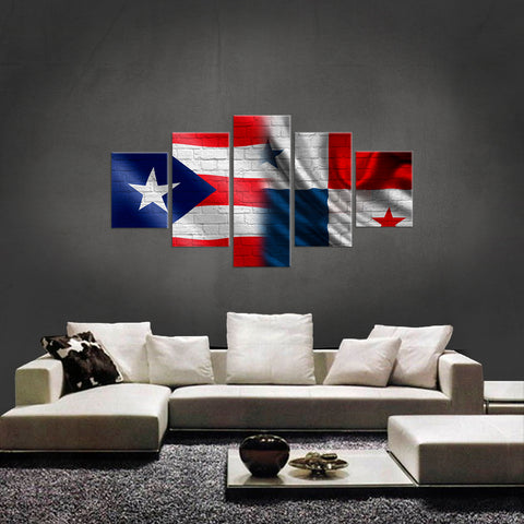 HD PRINTED LIMITED EDITION PUERTO RICAN AND PANAMA CANVAS