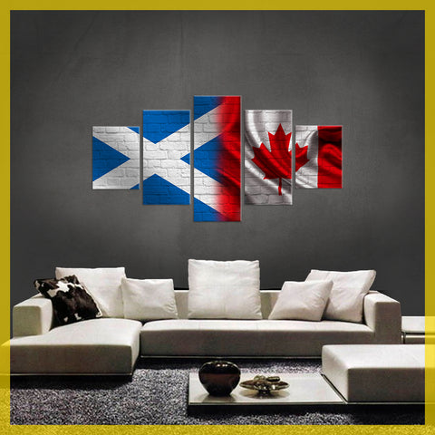 HD PRINTED LIMITED EDITION 5 PIECE Scottish (Scotland) Canadian ( Canada)