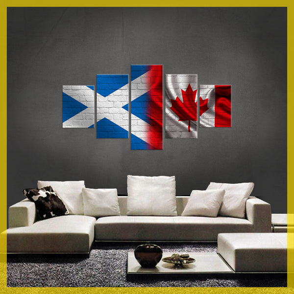 HD PRINTED LIMITED EDITION 5 PIECE CANADIAN CANVAS - CONTEMPORARY