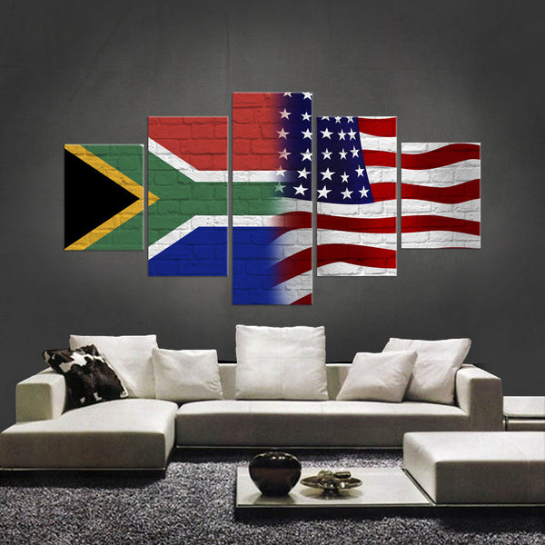 HD PRINTED LIMITED EDITION 5 PIECE SOUTH AFRICAN AMERICAN CANVAS