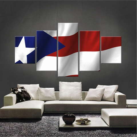 HD PRINTED LIMITED EDITION PUERTO RICAN FLAG CANVAS