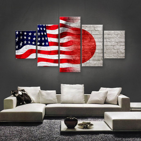 HD PRINTED LIMITED EDITION 5 PIECE AMERICAN-JAPANESE (JAPAN) CANVAS