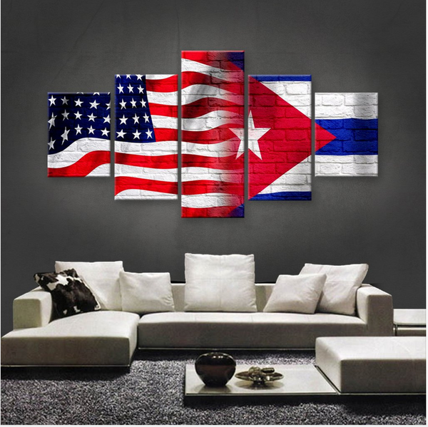 HD PRINTED LIMITED EDITION 5 PIECE AMERICAN-CUBAN (CUBA) CANVAS